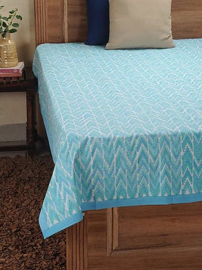 Ikat Bed Cover Hand Block Printed Cotton