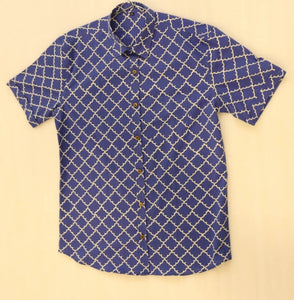Half Sleeves Shirt Hand Block Printed Cotton