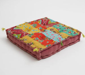 Floor Cushion Hand Block Printed Cotton