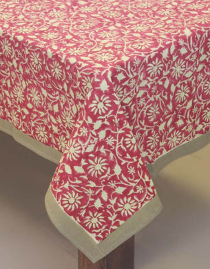 Table Cover Hand Block Printed Cotton