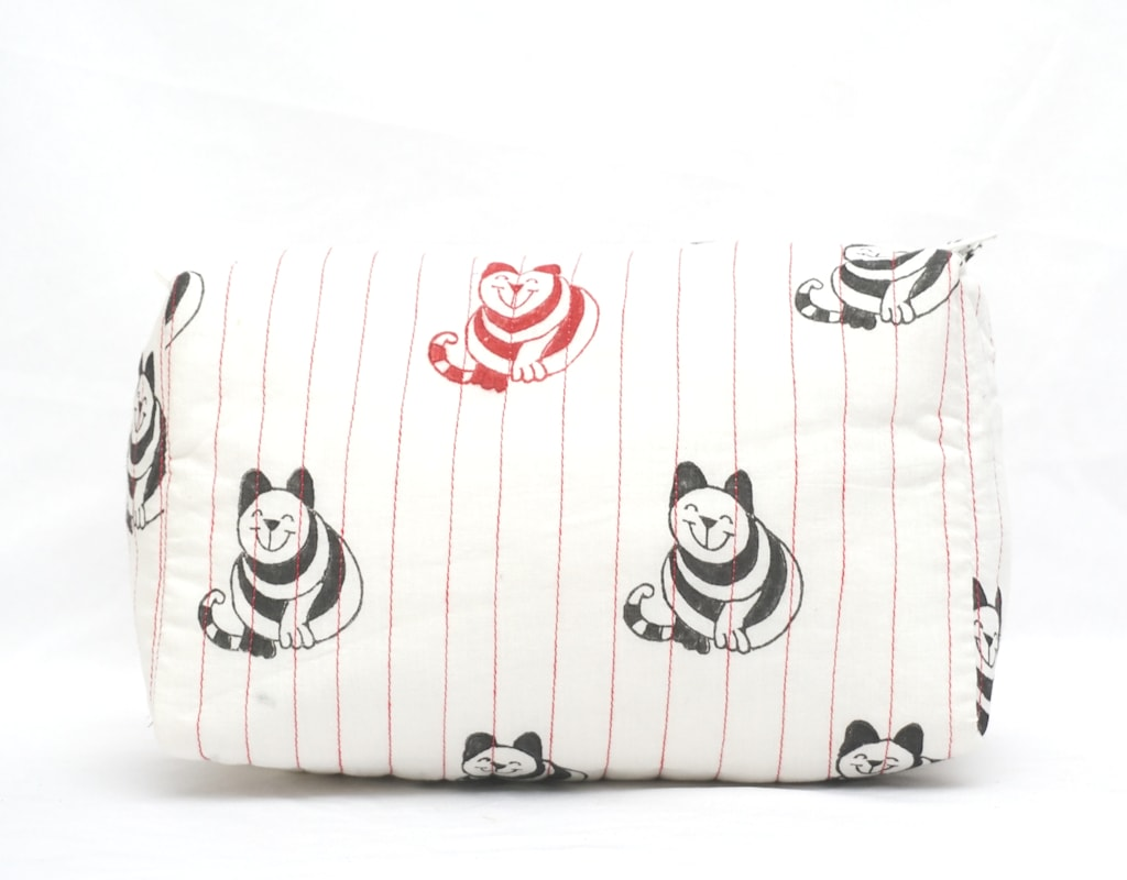 Pouch Hand Block Printed Cotton 02