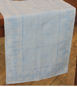 Table Runner Fish Design Hand Block Printed Cotton