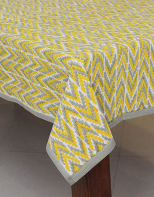 Ikat Hand Block Printed Table Cover