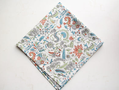 Hand Block Printed Cotton Handkerchief
