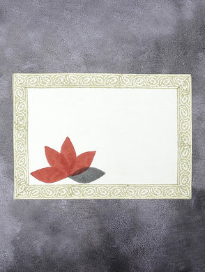 Lotus  Cotton Hand Block Printed Placemat