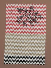 Load image into Gallery viewer, Black-Beige-Red Cotton Hand-Block Printed Placemat