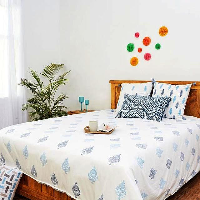 Duvet Cover Block Printed Cotton