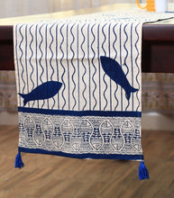 Load image into Gallery viewer, Table Runner  Hand Block Printed Cotton MYTR1041