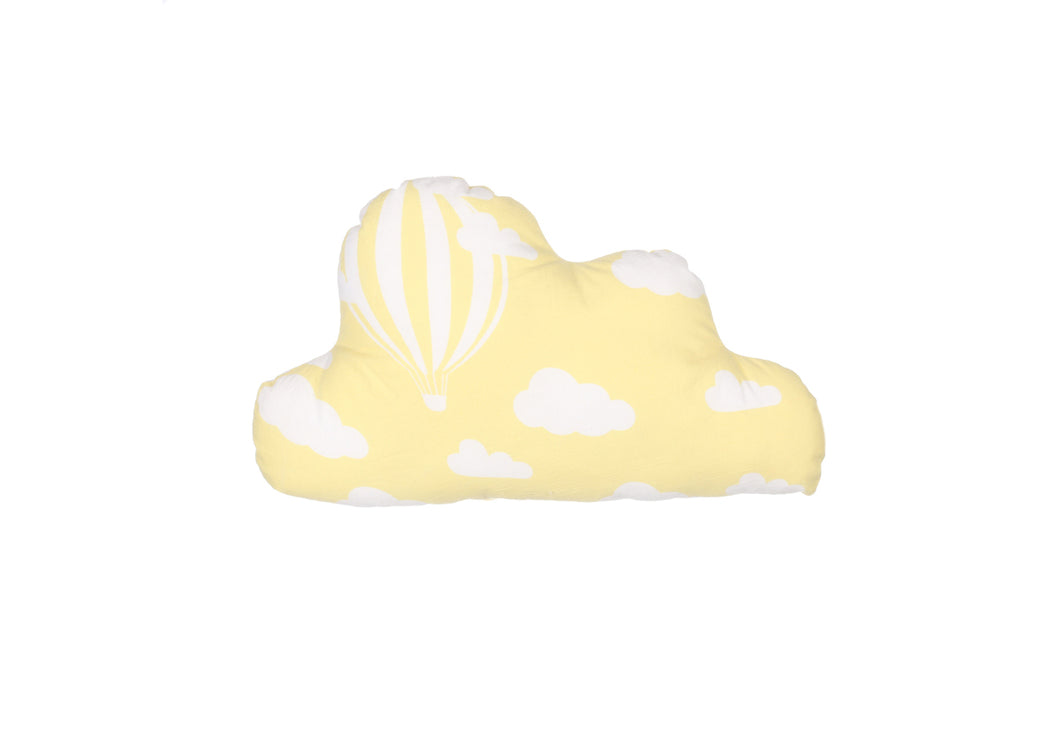 CUSHION COVER CLOUD CLOUD YELLOW WHITE