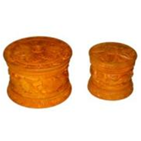 Wooden Carving Powder Box MYWH3031
