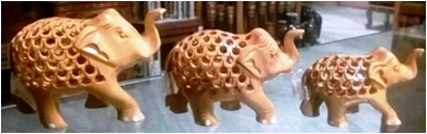 wooden u/cut elephant MYWH2920