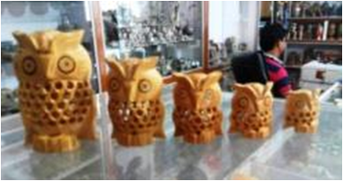 WOODEN UNDERCUT OWL SET  OF 5 PCS REGULAR MYWH3042