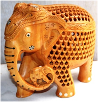 WOODEN BABY ELEPHANT  MYWH2928