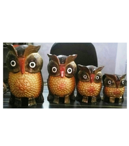 WOODEN COLOUR EMBOSSED WORK OWL MYWH2892