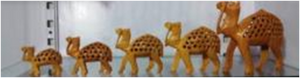 WOODEN CAMEL SET OF 5 PCS MYWH3048