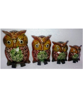 WOODEN EMBOSSED WORK OWL MYWH2894