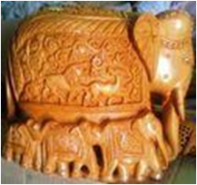 WOODEN CARVING ELEPHANT  MYWH2952