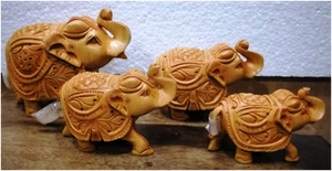 WOODEN CARVING ELEPHANT MYWH2955