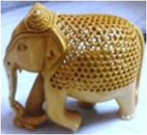 WOODEN WALKING ELEPHANT  MYWH2958