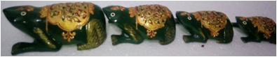 WOODEN COLOUR EMBOSSED WORK FROG MYWH2899