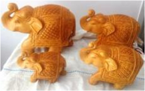WOODEN OWL FAMILY MYWH3056