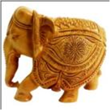 WOODEN STAR WORK ELEPHANT MYWH2991