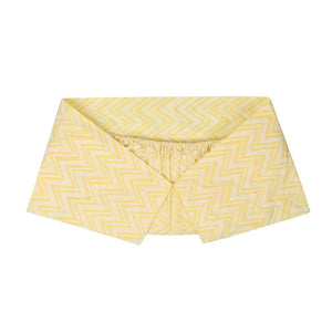 COT SHEET CHEVERON YELLOW WHITE