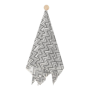 Swaddle Hand Block Printed chevron Design