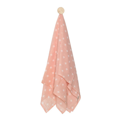 SWADDLE  CROSS  PINK  WHITE