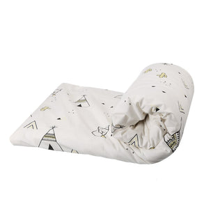 BLANKET TEEPEE WHITE BLACK YELLOW