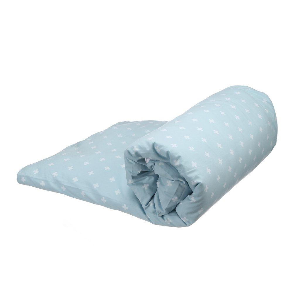 BLANKET CROSS BLUE WHITE