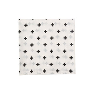 SWADDLE  CROSS  WHITE BLACK