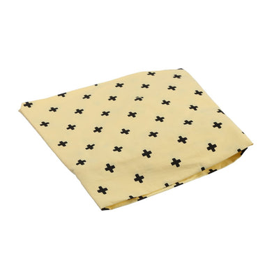 COT SHEET CROSS YELLOW BLACK