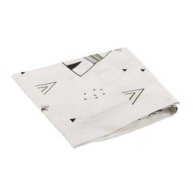 COT SHEET TEEPEE WHITE BLACK YELLOW
