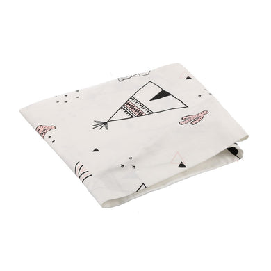 COT SHEET TEEPEE WHITE BLACK PINK