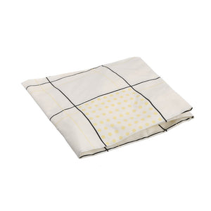COT SHEET CHECKS WHITE BLACK YELLOW