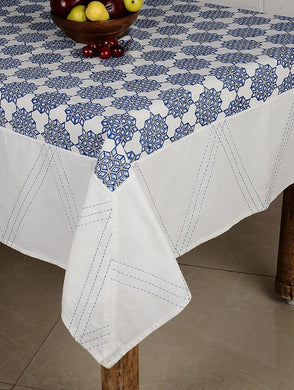 Kantha Cotton Hand Block Printed Table Cover