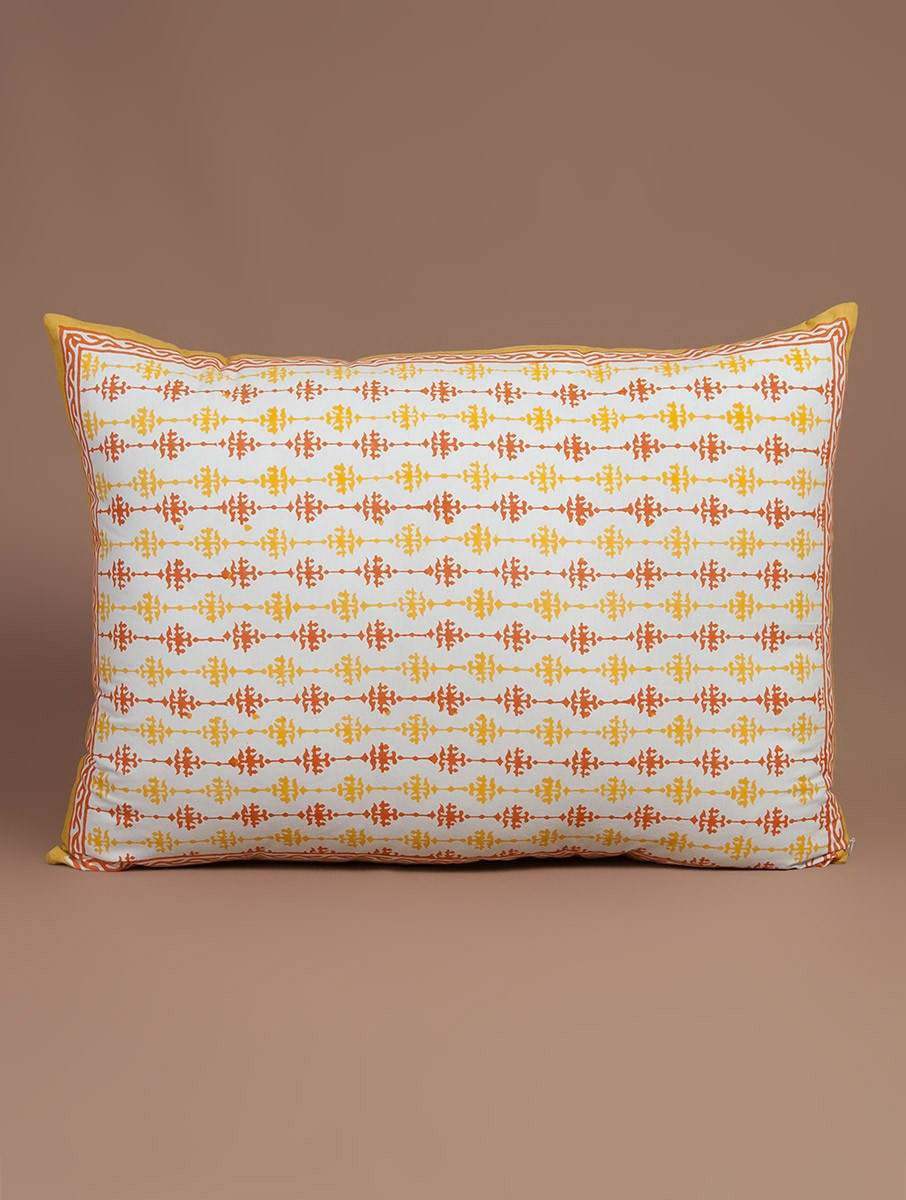 Hand-Block Printed Pillow Cover