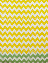 Load image into Gallery viewer, Yellow-White-Green Cotton Hand-Block Printed Pillow Cover