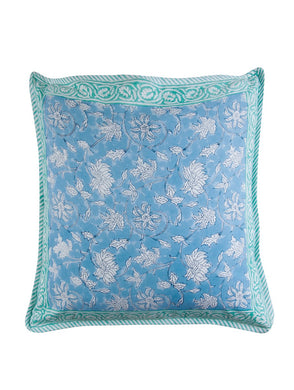 Floral Cushion Cover Hand Block Printed Cotton
