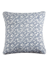 Load image into Gallery viewer, Grey Cushion Cover Hand Block Printed Cotton