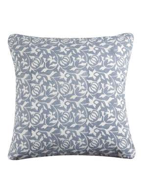 Grey Cushion Cover Hand Block Printed Cotton