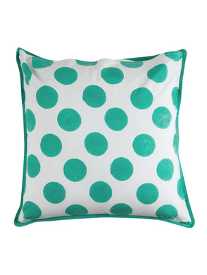 Polka Dot Cushion Cover Hand Block Printed Cotton