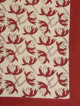 Load image into Gallery viewer, Bed Cover Hand Block Printed Red Flower