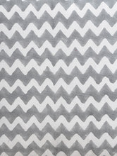 Load image into Gallery viewer, Grey Zigzag Cushion Cover Hand Block Printed Cotton