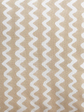 Load image into Gallery viewer, Beige Zigzag Cushion Cover Hand Block Printed Cotton