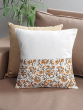 Load image into Gallery viewer, Floral  Cushion Cover Hand Block Printed Cotton