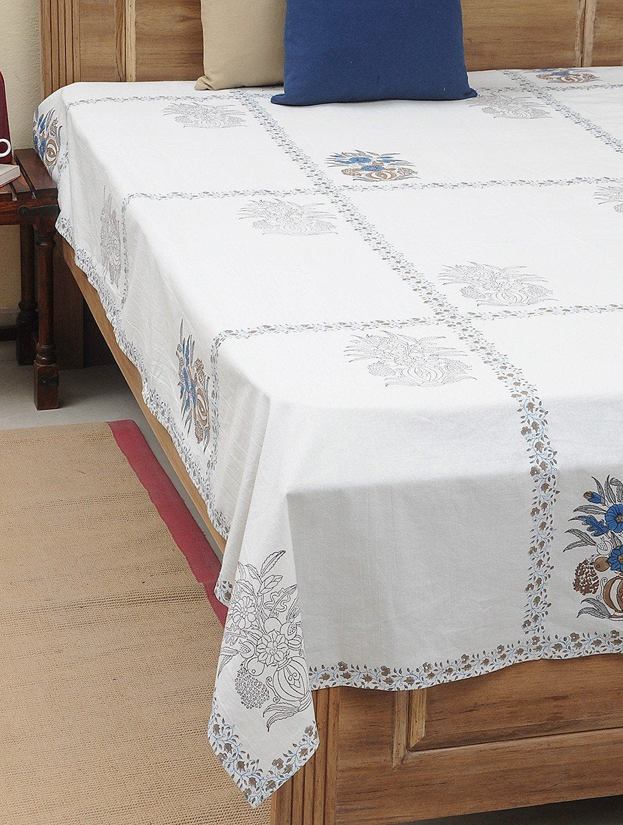 Bed Sheet Hand Block Printed Cotton