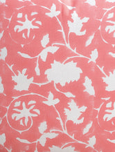 Load image into Gallery viewer, Peach Cushion Cover Hand Block Printed Cotton