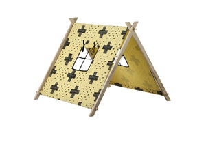 TENT BIG CROSS YELLOW BLACK